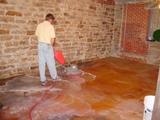 Wash tile floor
