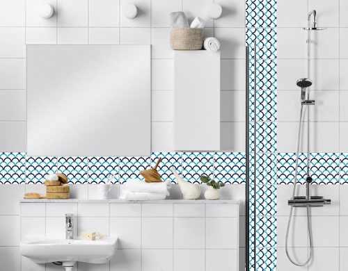 Gabinete Para Banheiro Adesivo para azulejo de banheiro -> Banheiro Decorado Com Adesivo De Azulejo