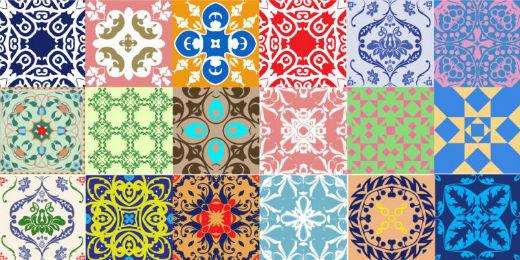 Azulejo retro cozinha v rios desenhos sobre - Azulejo sobre azulejo ...