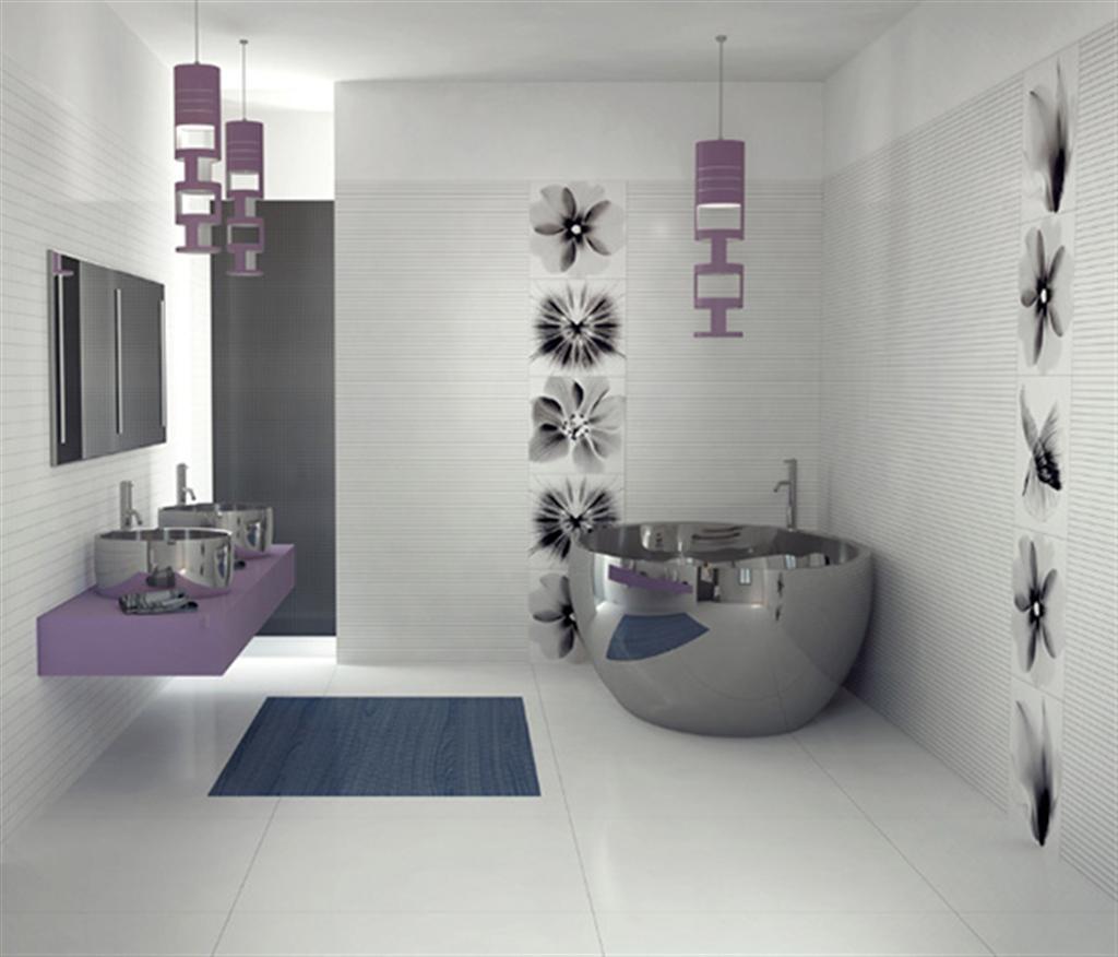Banheiro Moderno Banheiras e Box Construdeia #444D5D 1024 876