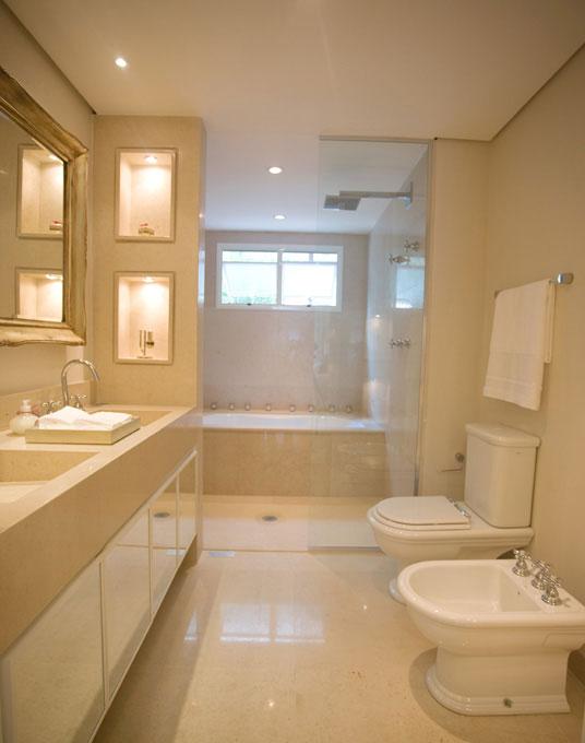 Banheiro Suíte  Construir e Reformar  Construdeia -> Banheiros Decorados Suite