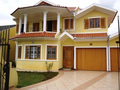 Casas com pinturas modernas cores e tintas construdeia - Pintura casa moderna ...