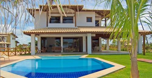 Casas com piscina 15 for Piscina de microfibra