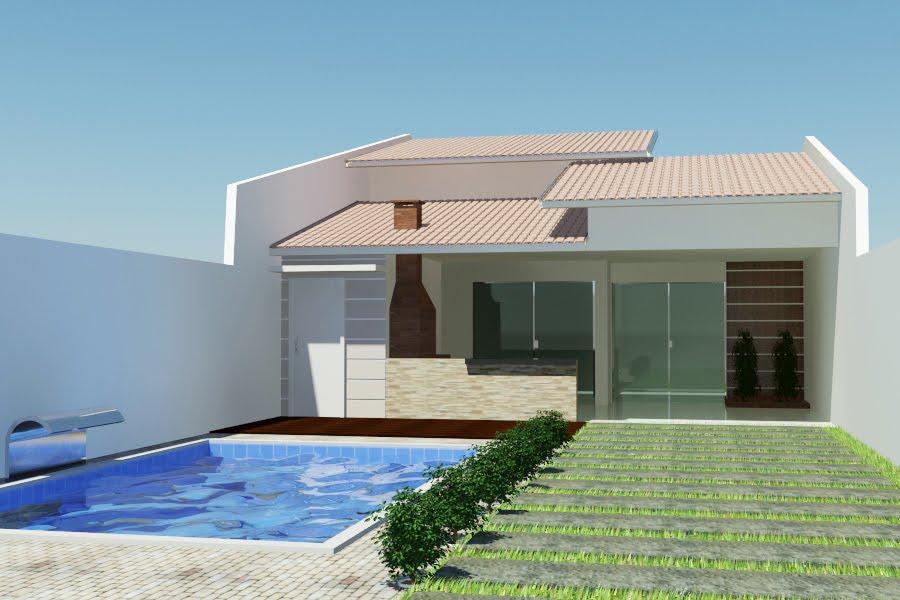 Casas modernas com telhado colonial telhas e projetos for Fotos de casas modernas simples