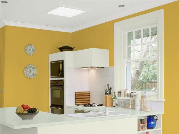 Casas pintadas de amarelo for Casas pintadas interior