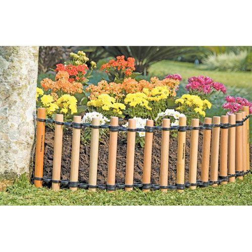 Cerca de madeira para jardim  Casa e Jardim  Construdeia