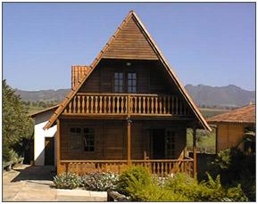 Casa de madeira chale
