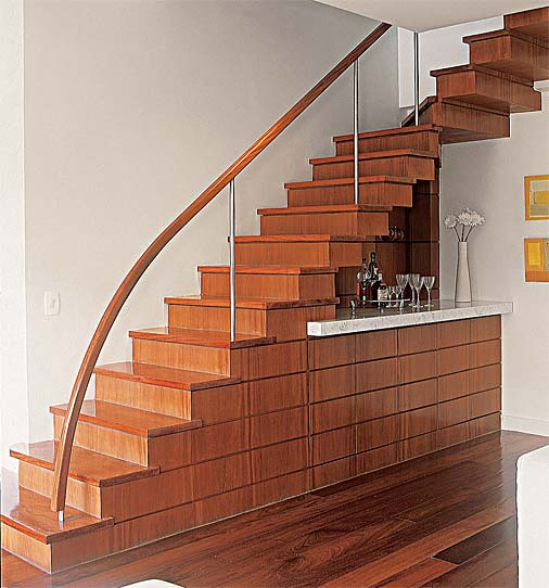 decoracao de paredes de escadas interiores:Como Fazer Escada – Concreto e Madeira