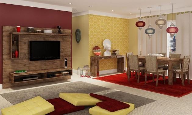 Como Montar Uma Sala De Tv Moderna ~ Como Ter Uma Casa Moderna Sem Gastar