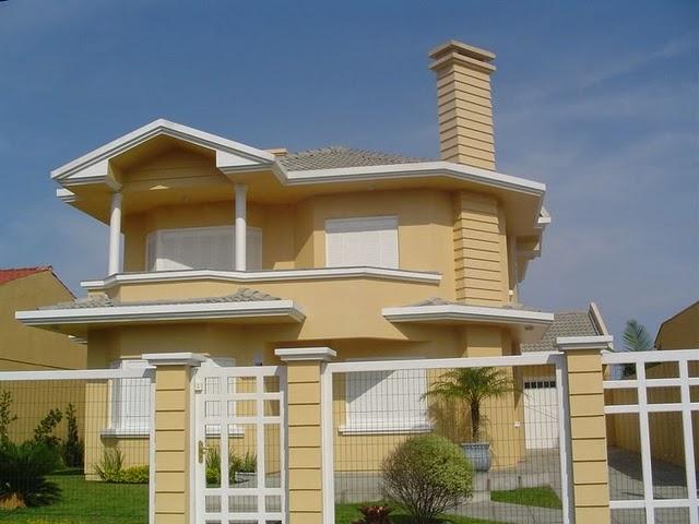 Cores para casas tinta e pintura construdeia for Cores modernas para fachadas de casas 2016