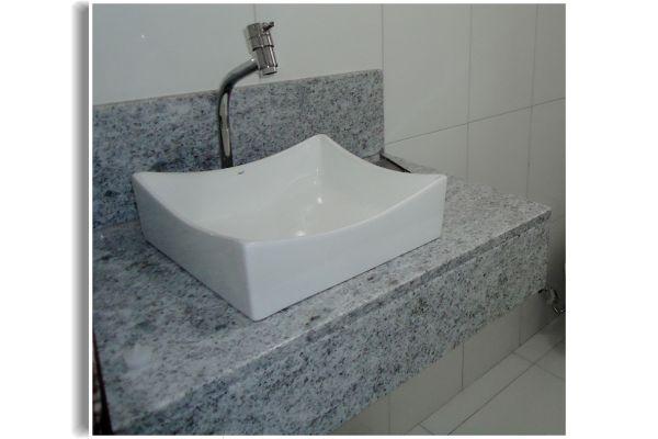 Cubas de Lavatório  Granito e Mármore  Construdeia -> Cuba Para Banheiro Japi