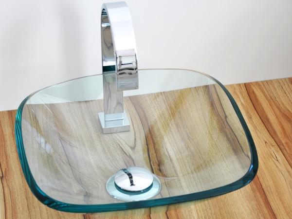 Cubas de Vidro  Banheiro e Lavatório  Construdeia -> Cuba Para Banheiro De Vidro Oval