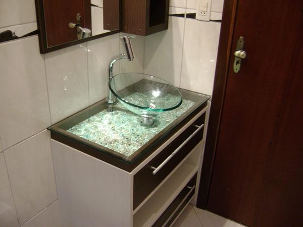Cubas de Vidro  Banheiro e Lavatório  Construdeia # Cuba Para Banheiro De Vidro Vermelha