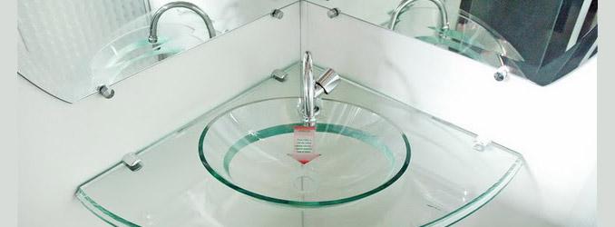 Cubas de Vidro  Banheiro e Lavatório  Construdeia -> Cuba De Vidro Para Banheiro Curitiba