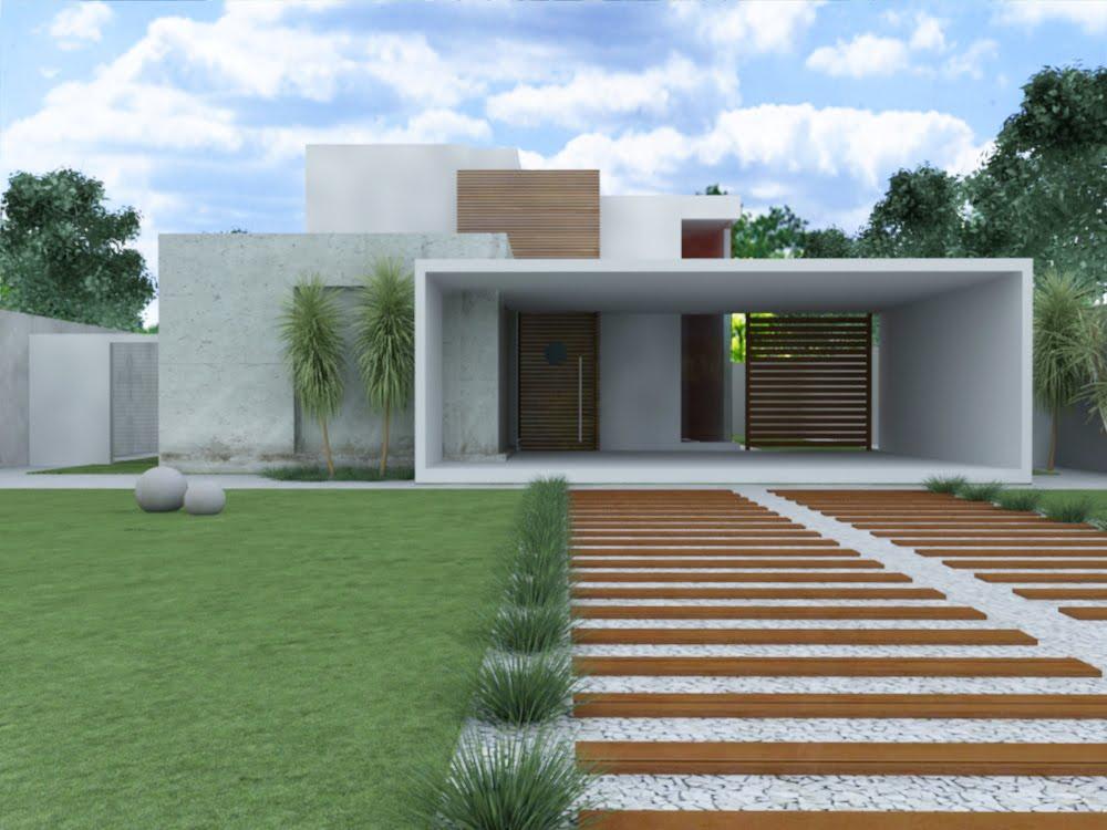 Ed culas modernas casas e fotos construdeia for Plantas baratas de exterior