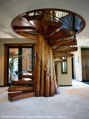Escadas internas em madeira - Escaleras rusticas ...