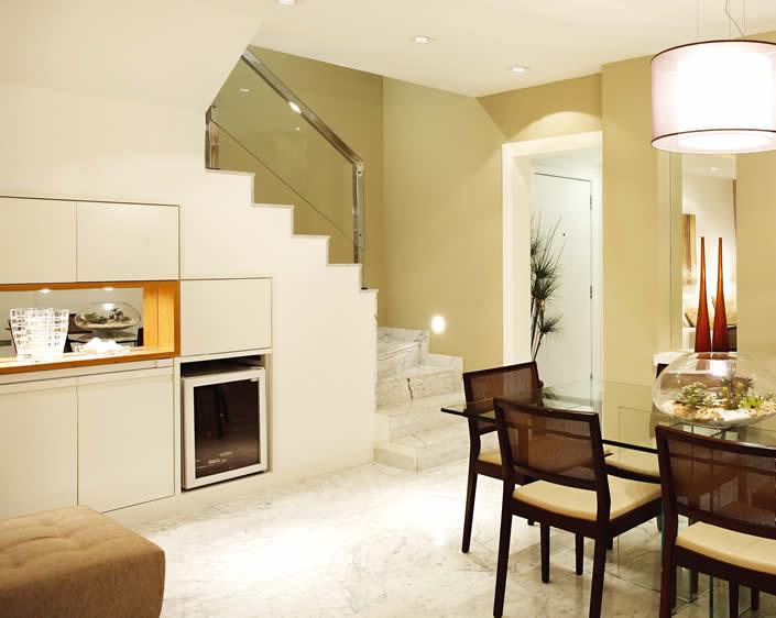 Fotos De Escadas Na Sala De Jantar ~ Escada para Sala  Degraus e Modelos  Construdeia