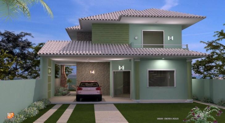 Fachada de casa duplex modernas e sobrado construdeia for Casas duplex modernas