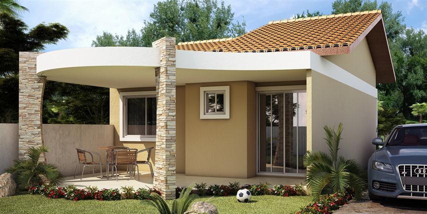 fachada de casas pequena com garagem 14jpg - Fachadas De Casas Pequeas