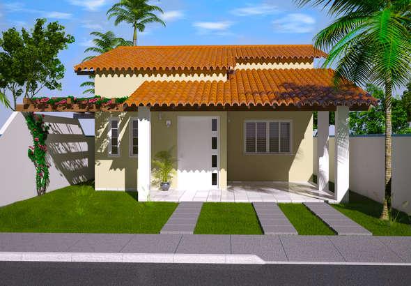 Fachada de casa pequena for Fachadas minimalistas de casas pequenas
