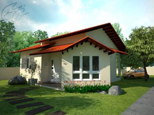 Fachada simples de casas modelos e cores construdeia for Modelo de fachada de casa