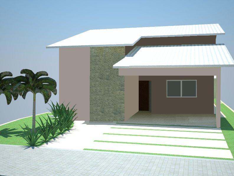Fachada simples de casas modelos e cores construdeia for Modelos de frente para casas pequenas