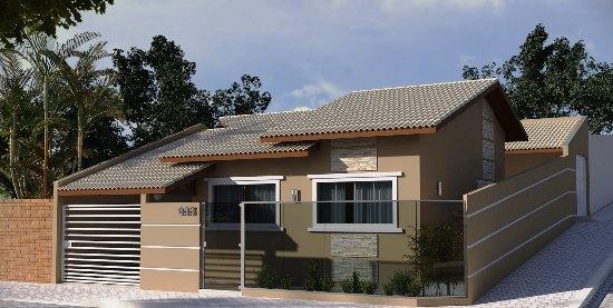 Fachadas de casas bonitas com telhados telhas e modernas for Modelos de fachadas para frentes de casas