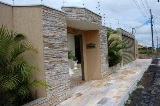 Frente de casas com cer mica pisos e pastilhas for Modelos de frentes de casas modernas