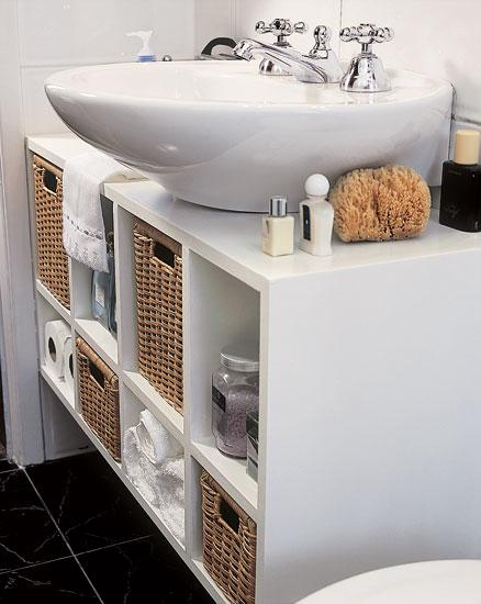 Gabinete para banheiro  Armário e Pia  Construdeia -> Pia De Banheiro Gabinete