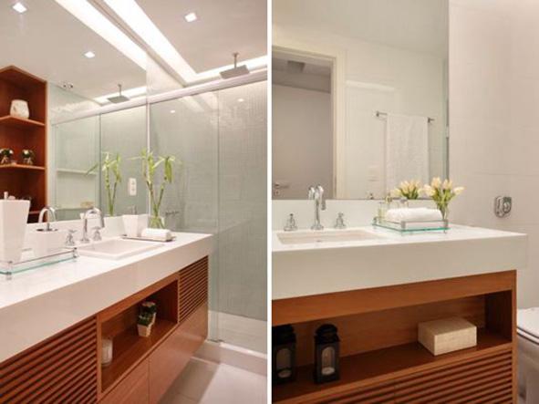 Gesso para Banheiro  Acabamento e Teto  Construdeia -> Decoracao De Gesso Para Banheiro Pequeno