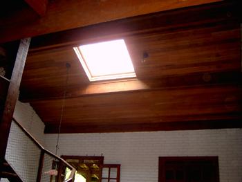 Telhado com janela