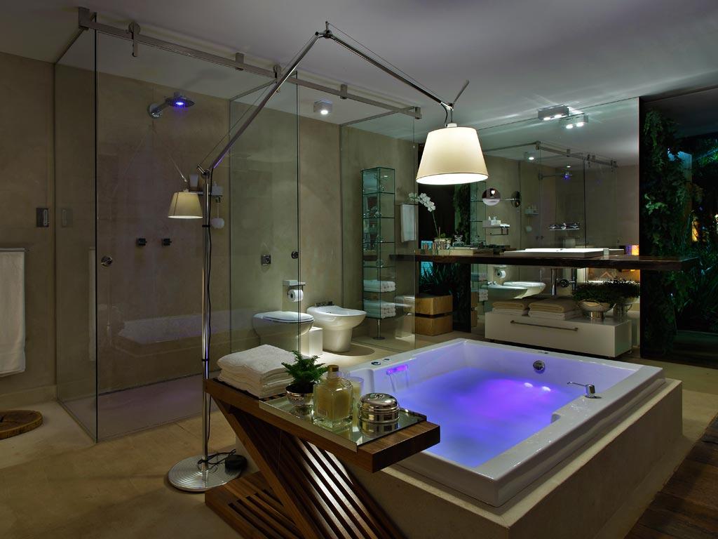 Lustre Rústico para Banheiro Iluminação e Modernos Construdeia #3A15B6 1024 768