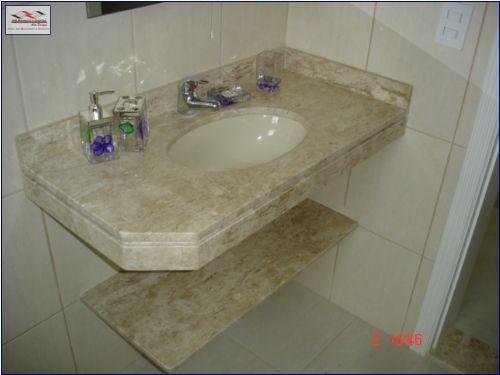 Mármore e Granito em Banheiro  Pia e Pisos  Construdeia -> Pia De Banheiro Em Granito
