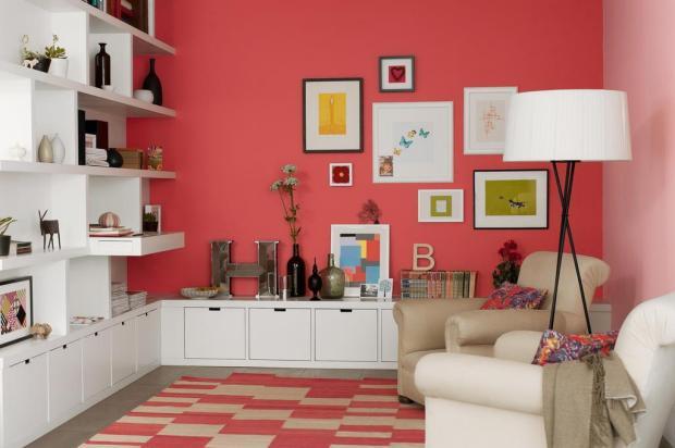 Materiais para pintar tintas e pinturas - Coral paint color for living room ...