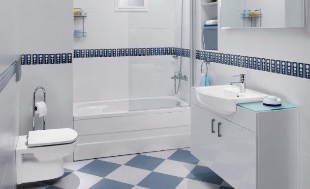 Modelo de Azulejo para Banheiro  Pisos e Pastilhas  Construdeia -> Banheiros Com Pastilhas E Azulejos