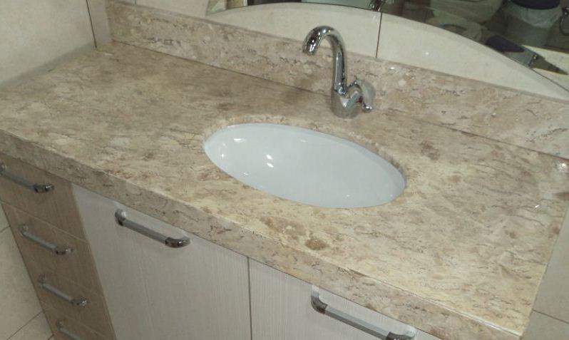 Modelo de Pia para Banheiro  Mármore e Granito  Construdeia -> Pia De Louca Para Banheiro