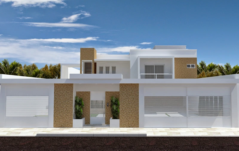 Modelos de muro simples para casas constru o e imagens for Modelos de fachadas para frentes de casas