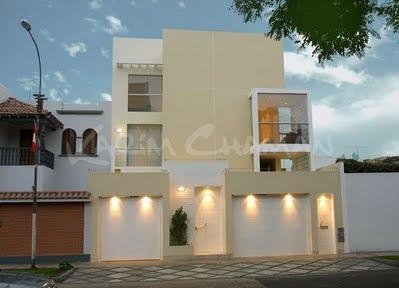 Muro de casas modernas for Fachadas de casas modernas en lima