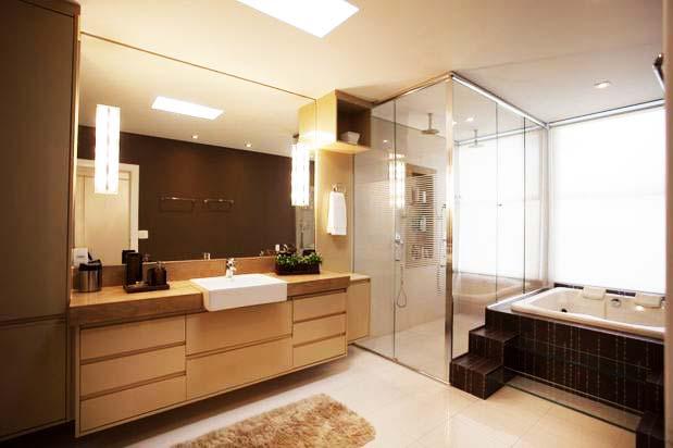 Pia de Madeira para Banheiro  Gabinete e Lavabo  Construdeia -> Pia De Banheiro Madeira