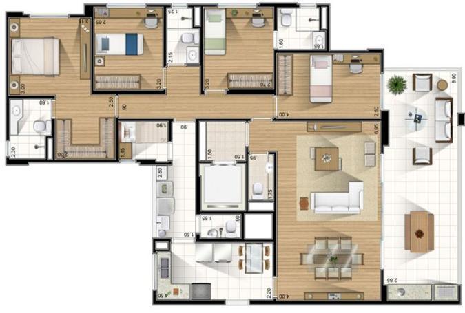 Planta de casas t rreas constru o e projetos construdeia for Modelo de casa familiar