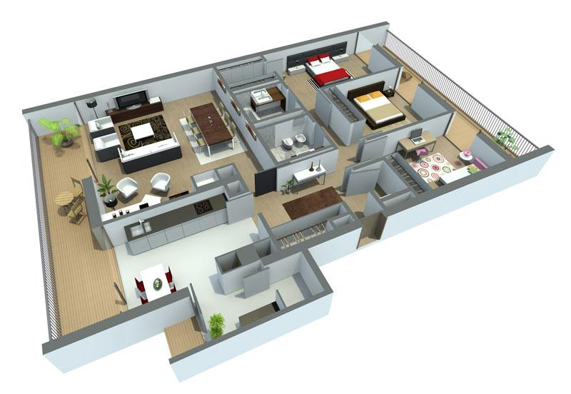 Plantas de casa em 3d - Diseno de casas 3d ...