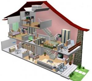 Plantas de casa em 3d for Casas 3d