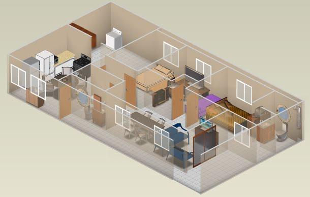 Plantas e projetos de casas em 3d for Programa para construir casas 3d