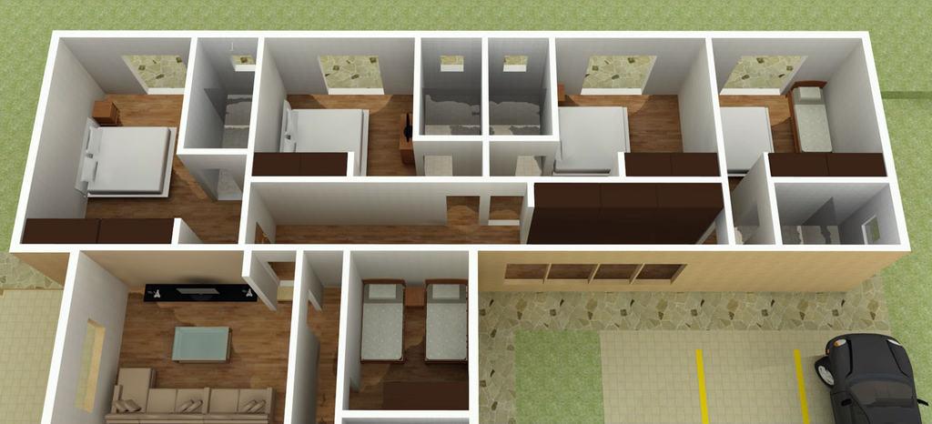 Projetos de casas em L - projetodecasas.com