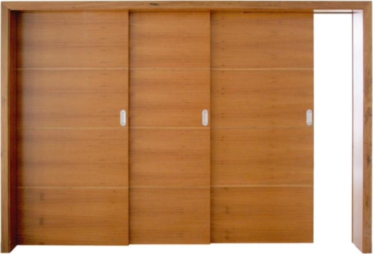 Porta De Correr Para Quarto De Vidro ~ Porta de Correr para Closet  Madeira e Vidro  Construdeia