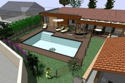 Projeto de casas em l planta e constru o - Fotos de casas en forma de l ...
