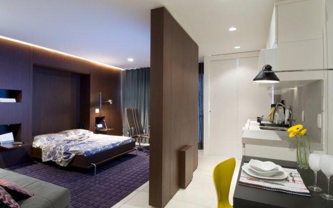 Quarto com Closet e Banheiro  Móveis e Projeto  Construdeia -> Projetos De Banheiro Com Banheira E Closet
