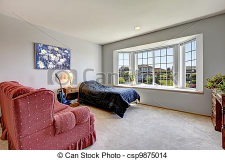 quarto com janela grande modernas e madeira construdeia. Black Bedroom Furniture Sets. Home Design Ideas