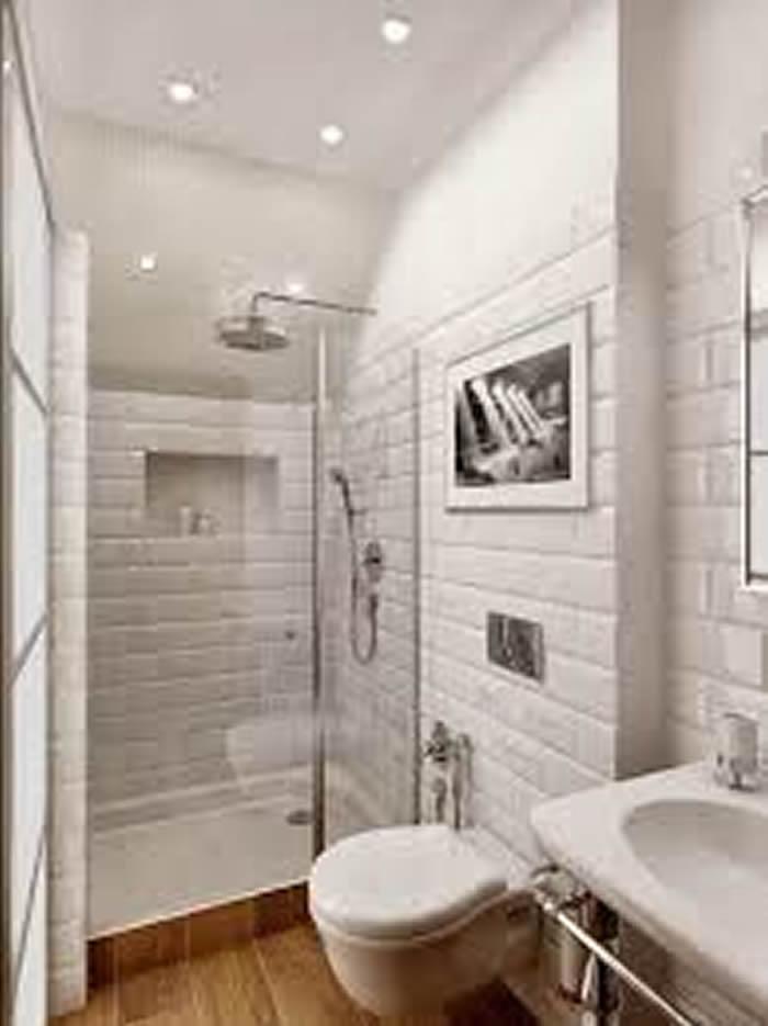 Revestimento Moderno para Banheiro  Pisos e Pastilhas  Construdeia -> Banheiro Moderno Revestimento