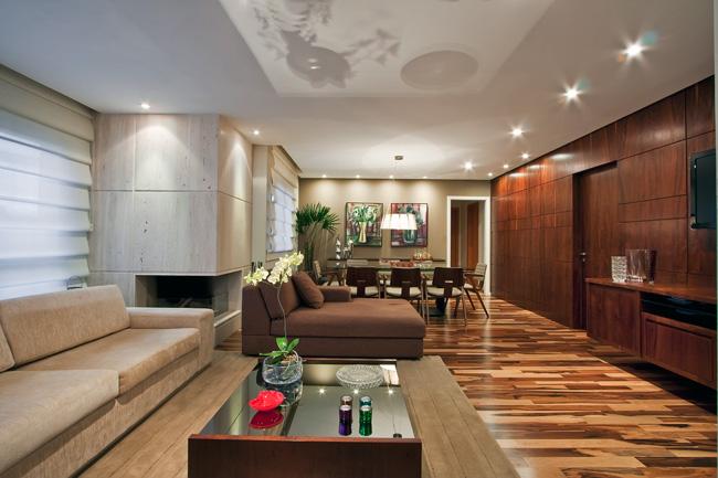 Sala de estar com piso de madeira - Piso para sala de estar ...